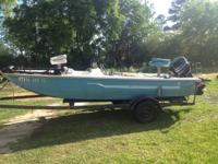 '76 Bomber Bass Boat with front and rear live