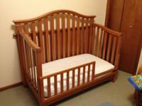 3-in-1 (Crib (3 bed mattress levels), toddler bed and