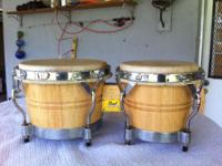 CHECK OUT THESE SOLID WOOD BONGOS BY PEARL!! SAVE 100