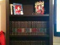 Selling 5ft. book case black in excellent condition,