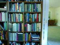 I have 2 Book cases which are great for books. :) I am