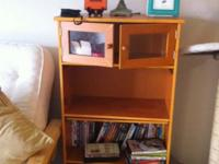 Cute bookcase with glass doors. Have until Friday to