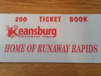 I have a brand new book of 200 tickets for Keansburg