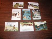 This listing is for 8 (8) postcard size cards depicting