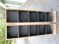 Book/DVD/CD racks in good condition. Dimensions