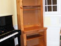 Very strong book shelf/hutch. Has holes in back so it
