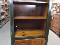 Very nice book case with lower storage  2 Shelves  Oak
