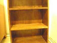 Small Brown Solid Wood Bookcase Needs To Be Refinished