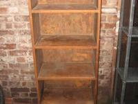 "GOTHIC CABINET REAL WOOD MODERN bookcase-72"" x 24"" x"