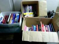 THREE BOXES OF MISC. BOOKS INCLUDES TEXTBOOKS,HARDBACKS