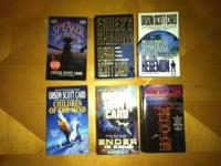 Orson Scott Card books in good condition, $1 each.