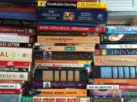 BOOKS, Many child, teen and business books plus 128 pc.