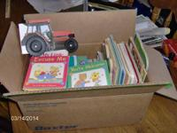 box of childrend books about 50 books in the box $10