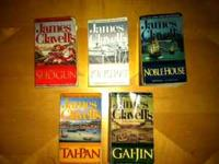 James Clavell's amazing Shogun series, good shape, $1