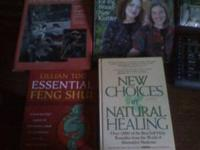 Books on natural medicine and feng shui $5  Location: