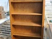 2 Oak Book shelves in good condition please call:
