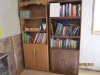 I have two book shelves for sale for $40.  please call