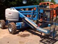 2001 Genie Boom Lift Articulating 45' Dual Fuel , Unit