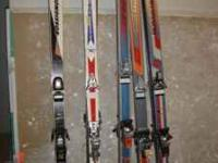 We have a few used skis and boots of various sizes,