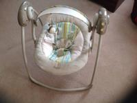 We are selling a Boppy Travel swing that is in