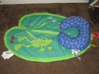 Bright Starts Frog Lilly Pad Tummy Time Activity Mat