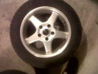 Borbet rims Dunlop snow tires Rims have some pitting