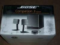 Bose Companion 3 Series II multimedia speaker system.