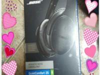 "brand new in box ""bose"" headphones!model # qc 25seen"