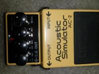 I am selling my acoustic guitar simulator pedal. This