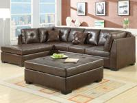 *ALL NEW* L-Sectional Couch with Ottoman  Available in