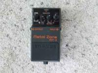 For sale is a Boss Metal Zone MT-2 guitar distortion