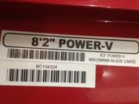 "2013 Boss Power-V   8' 2"" Used i season."