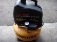 A bostitch 6 gallon air compressor 2hp motor in great