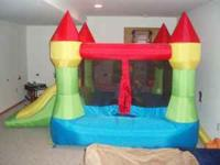 This bounce house has ONLY been used inside and is just
