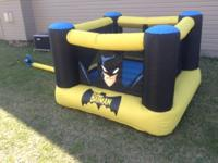 Batman bounce house. Two persons under 5 feet. 100