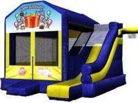 We have bounce houses, moonwalks, waterslides