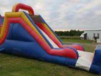 The slide is about 16' tall with a base of about 25'.