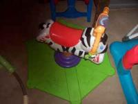 Bouncing Zebra makes noise and lights up - $10 Lamaze