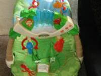 brand new carrier + barely used bouncy chair all for 40