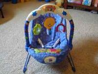 Bouncy Seat with musical bar with lights and hanging