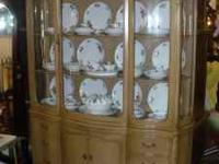 Stunning Bow Fronted French Country China Cabinet will