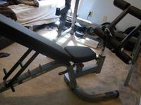 Bowflex home gym available for sale. Comes with leg and