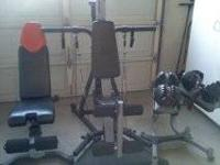 We have a BowFlex Home Gym that will be sold this week