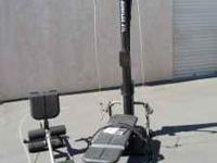 BOWFLEX POWER PRO WITH ALL ATTACHMENTS INCLUDING, LEG