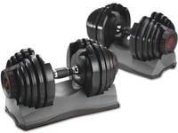 Bowflex 552 dumbbells. adjust from 5-52.5 lbs and 3.1