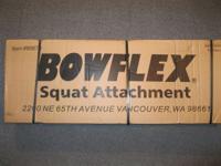 New in the box squat attachment for the Bowflex XTL