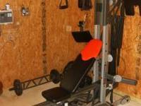 Bowflex with all the attachments: squat attachment, leg