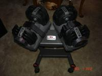 Bowflex SelectTech 220 Dumbbells and Stand $200