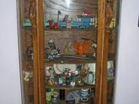Anitque bowfront china cabinet, 63 1/2 high, 39 wide