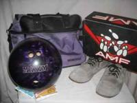 Purple bowling ball 10 lbs. Comes with Brunwick purple